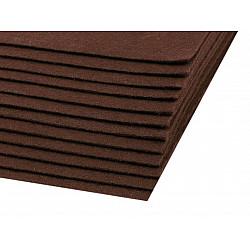 Coli fetru, 20x30 cm, 300 g / m², 2 bucati - maro