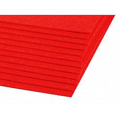 Coli fetru, 20x30 cm, 300 g / m², 2 bucati - roșu