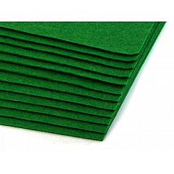 Coli fetru, 20x30 cm, 300 g / m², 2 bucati - verde