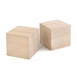 Cub lemn natur, 4x4x4 cm (pachet 10 buc.)