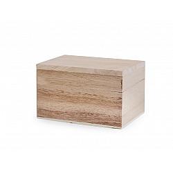 Cutie din lemn dreptunghiulară - 5.5 x 7.5 x 4.7 cm