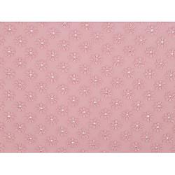 Dantelă Madeira cu broderie, la metru - roz pudra
