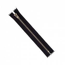 Fermoar metalic - 18cm, Negru