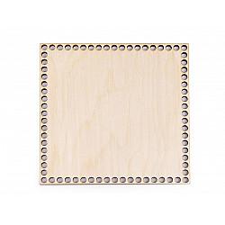 Fund din lemn pentru coșuri tricotate, 16x16 cm - natur deschis