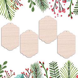 Globulete lemn - Etichete vintage - 12 cm, 4 buc.
