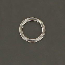 Inele/anouri plastic, 9 mm, Transparent