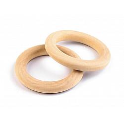 Inele din lemn, Ø33 mm (pachet 10 Buc.) - natur deschis