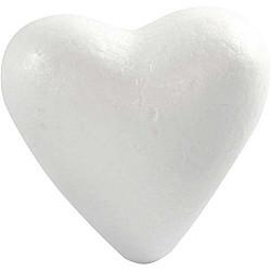 Inima din polistiren - 11cm, 1 buc.