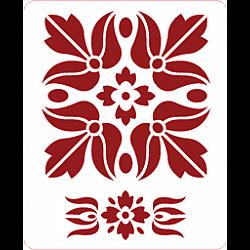 Mini-sablon - Traditional - 9x7.5 cm