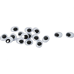 Ochi mobili ovali - 9x12mm, 1 buc.