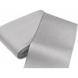 Panglică din tafta, lățime 10,8 cm (pachet 10 m) - gri foarte deschis