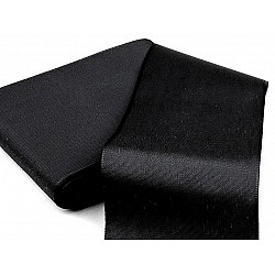 Panglică din tafta, lățime 10,8 cm (pachet 10 m) - negru