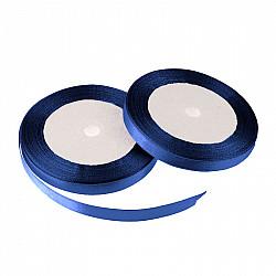 Panglica dublu satinata, 10 mm - Albastru