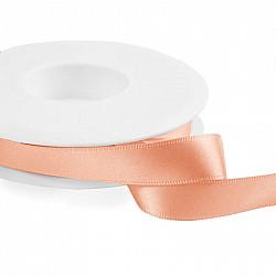 Panglica dublu satinata 2 cm - Roz-nude