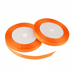 Panglica dublu satinata, 6 mm - Orange