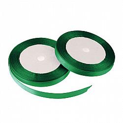 Panglica dublu satinata, 6 mm - Verde smarald