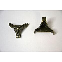 Picioruse metal antichizat - Bufnita 3.8cm, 4 buc.