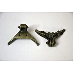 Picioruse metal antichizat - Fluture 4.6cm, 4 buc.