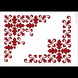 Sablon A5 - Colt texturat - 14.5x21 cm