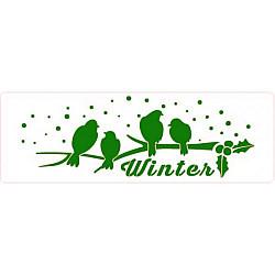 Sablon bordura - Vrabiute iarna - 21x7cm