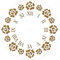 Sablon cadran - Bujori- 20cm