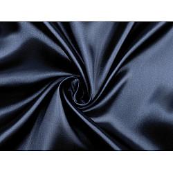 Satin elastic la metru - albastru parizian