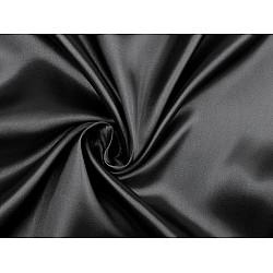 Satin elastic la metru - negru