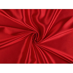 Satin elastic la metru - roșu