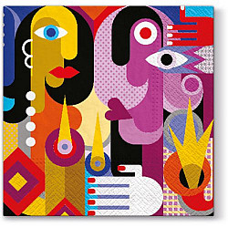 Servetele - A'la Picasso - 33x33cm, 4 buc