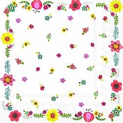 Servetele - Bucuria florilor - 33x33cm, 4 buc