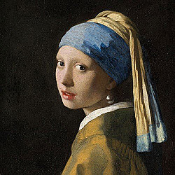 Servetele - Fata cu cercel de perla - 33x33cm, 4 buc
