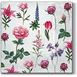 Servetele - Flori alese - 33x33cm, 4 buc