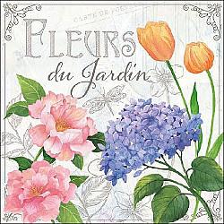 Servetele - Flori fabuloase - 33x33cm, 4 buc