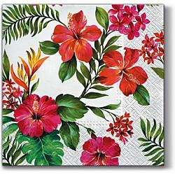 Servetele - Flori Hawaiiene - 33x33cm, 4 buc