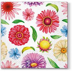 Servetele - Flori perfecte - 33x33cm, 4 buc