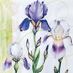 Servetele - Frumusetea irisilor - 33x33cm, 4 buc