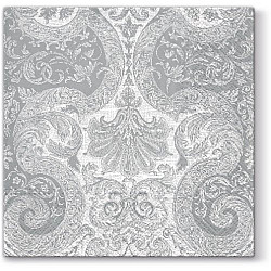 Servetele - Ornament pretios (argintiu) - 33x33cm, 4 buc