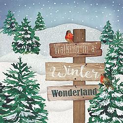 Servetele - Tarmul minunat iarna - 33x33cm, 4 buc