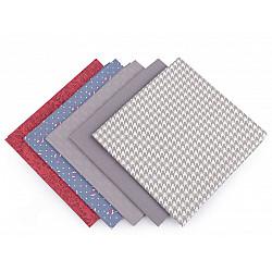Set 5 materiale textile pentru patchwork, 48x50 cm - Mix-38