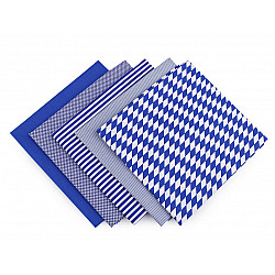 Set 5 materiale textile pentru patchwork, 48x50 cm - Mix-41