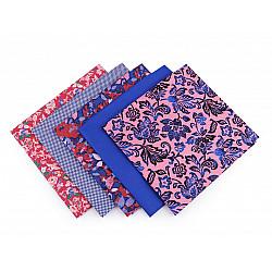 Set 5 materiale textile pentru patchwork, 48x50 cm - Mix-46