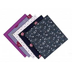 Set 5 materiale textile pentru patchwork, 48x50 cm - Mix-65
