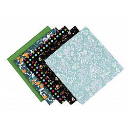 Set 5 materiale textile pentru patchwork, 48x50 cm - Mix-68