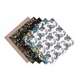 Set 5 materiale textile pentru patchwork, 48x50 cm - Mix-69