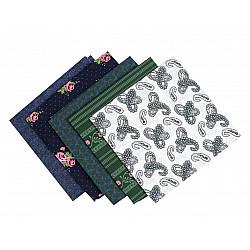 Set 5 materiale textile pentru patchwork, 48x50 cm - Mix-71