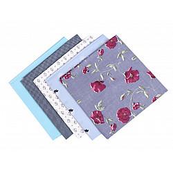 Set 5 materiale textile pentru patchwork, 48x50 cm - Mix-72