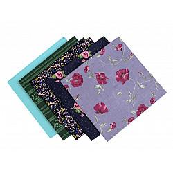 Set 5 materiale textile pentru patchwork, 48x50 cm - Mix-73