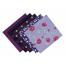 Set 5 materiale textile pentru patchwork, 48x50 cm - Mix-74