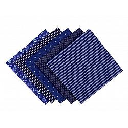 Set 5 materiale textile pentru patchwork, 48x50 cm - Mix-79