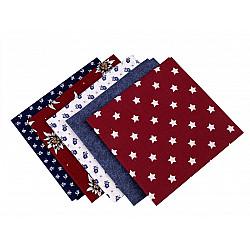 Set 5 materiale textile pentru patchwork, 48x50 cm - Mix-81